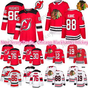 2019 New Chicago Blackhawks 19 Toovs 88 Kane 12 Alex Debrincat Mens Jerseys New Jersey Devils 76 P. K. Subban 86 Jack Hughes Hockey Jerseys