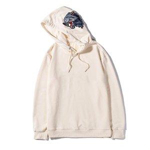 HOTSALE мужские Марка Толстовка Дизайнер Hoodie Прохладный Wolf Embroid Классический Роскошный пуловер с длинным рукавом кулиской Hiphop Street Casual B100085L