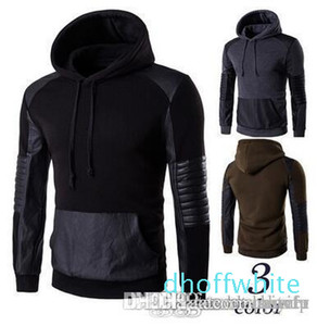 Good Quality Men &#039 ;S Hoodies Fashion Casual Leather Black Hoodies Spring Winter Coat Sweatshirts Men &#039 ;S Clothing P