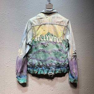 kot ceket 2020sss baskı Avrupa ve Amerika AMIRI kot Amiri AMIRI Wollywood içinde Tide marka