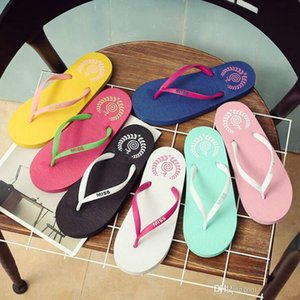 Wholesale Free Shipping Special SALES Candy colors Womens Beach Summer Slippers Flip Flops Couple slippers Multi