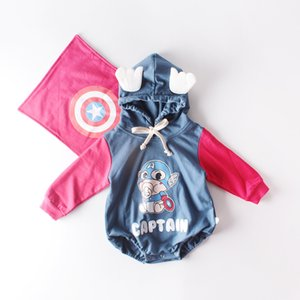 New Autumn Infant Baby Kids Cotton Rompers Child Babies Cartoon Hooded Long Sleeve Onesies Toddlers Climb Clothes Babies Romeprs 15307