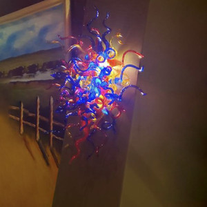 Innenwandleuchten Farben Hand geblasenem Glas Italian Style Wandleuchte Murano Mund Blasen-Kunst-Wand Deko Licht