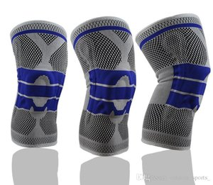 Sports knee pads professional silicone anti-collision spring support basketball knee pads riding hiking running fitness protective gear