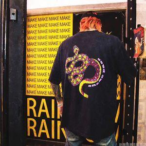 Stampa T Shirt Mens Snake Hip manica corta Moda estate donne degli uomini di alta qualità Hop Mens Stylist girocollo in cotone T S-XL