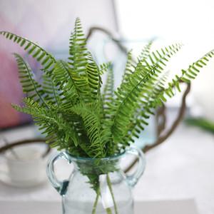 النباتات الخضراء العشب الاصطناعي للبلاستيك الزهور المنزلية مخزن دست ريفي الديكور البرسيم مصنع بالجملة