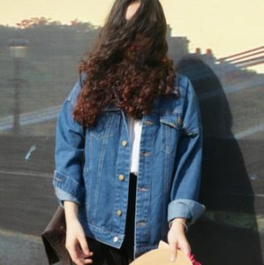 Wind Autumn And Winter Women Denim Jacket Oversize Lose Female Genez Coat Solid Slim Chaquetas Mujer fz1539