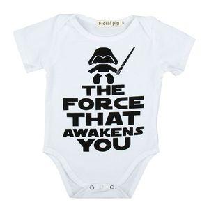 Kids Rompers Newborn Baby Girl Одежда Письмо Комбинезоны с коротким рукавом Европа Америка Хлопок для беременных 40