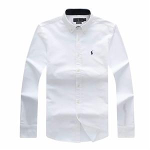 Мужской Оксфорд хлопок рубашка поло топ дизайнер и досуг Бизнес рубашка с длинным рукавом Brand New Mens рубашки платья плюс размер
