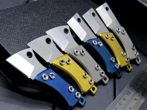 미니 서지 콩 S35VN 100 % 61HRC 사람 1PCS ADMI 접이식 선물 나이프 키 체인 블레이드 티타늄 핸들 주머니 칼을 stonewashed