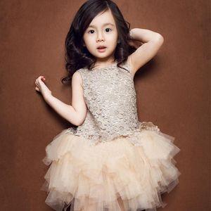 Vieeoease Girls Dress Flower Kids Clothing 2020 Autumn Fashion Sleeveless Vest Embroidery Princess Party Dress KU-002