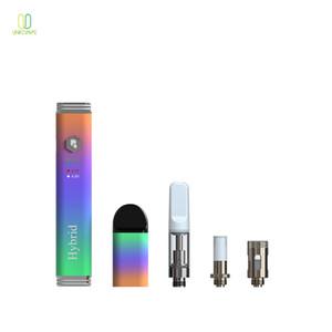 Factory price wax vape pen rainbow 3 in 1 vape voltage adjustable vape battery free shipping