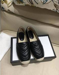 Klasik Yaz Sandalet Kadınlar Düşük En Espadrilles Balıkçı ayakkabı tasarımcısı lüks loafer'lar Kauçuk Sole Kayma-On Ayakkabı 35-40