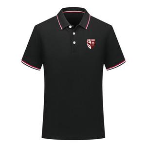 Männer FC Metz Fußball-Polo-Hemd Fußball-Kurzarm-Polohemd Sommer Art und Weise Shirt Training Polo Shirts Sport Fußball-Trikot Herren Polos