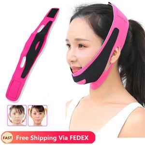 Duplo Chin face Bandage Magro Levante Anti-rugas linha máscara face Strap Banda V Belt Mulheres Slimming fina ferramenta de beleza Facial