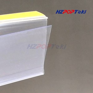 L100 120cm Plastic PVC Shelf Data Strips by Adhesive Tape Merchandise Price Talker Sign Display Label Card Holder on Supermarket Rack 100pcs