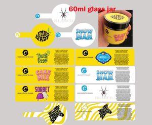 الأصفر الكوكيز SF البلاستيك 3.5 GRAMS 60ML الجرار خليط كيك رجل الثلج بلانكو تانغ رمادي Lemonchello Chookies JARS 60ML