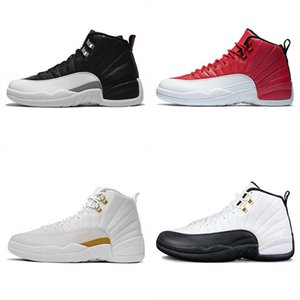 2019 New 12s OVO White FIBA ​​CNY Playoff Men 농구 ​​Shoes 12 Game Royal Blue French Blue Cherry Dark Grey 운동화 상자