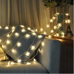 Başucu lambası LED büyük kar tanesi yanıp sönen ışıklar renkli ışıklar dize ışık Noel festivali parti dekorasyon ışıkları