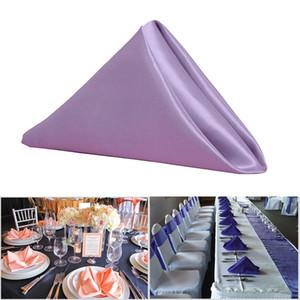 Wedding tovaglioli 3 Superficie colori puri tovagliolo da tavola raso Fazzoletto Dinner Party decorazione evento tovagliette BH3244 TQQ