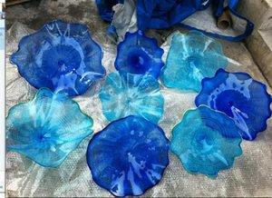 Maßgeschneiderte blaue Murano Glas Wandteller Chihuly Stil Hochzeit Chihuly Stil Wandleuchte Modern