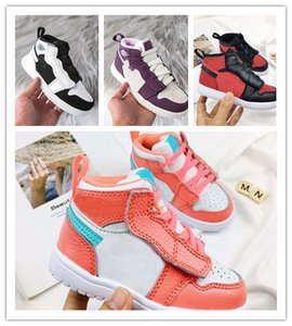 KPU Kids Shoes 에어 데이 야외 스포츠 러닝 13s Shoe 2019 블랙 레드 그레이 Children 's Designer Walking Sneakers