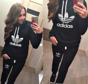 Heiß! Frauen-Sport-Anzüge Printed Fall Tracksuits Langhülse beiläufige Sportwear Kostüme 2 Stück Kleidungssatz Hoodies Sweatshirt AD23218