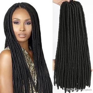 18inch Dread Locs Crochet Hair Silky Strands Faux Locs Trenzas Extensiones de cabello sintético Kanekalon Fiber Trenzado de cabello