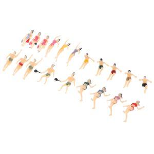 20x Scale 1:100 Painted Model Figure People Swimmer Layout Landscape Models