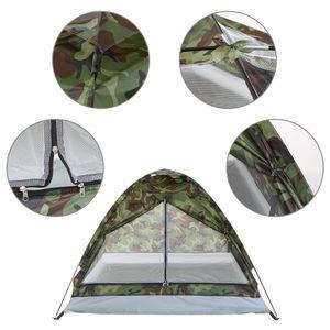 Kamp Çadırı Carpas De 1 Kişi Tek Katman Açık Taşınabilir Kamuflaj ve Kampçılık Kamp Yürüyüş Seyahat Plaj Çadır Çadırlar Açık Merhaba için
