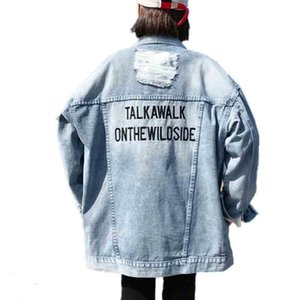 Bonu Vintage Demin Veste Pour Femmes Trous Desserrer Femme Manteaux Et Vestes Automne Automne Automne Manteau Denim Veste Pour Femmes Y190827