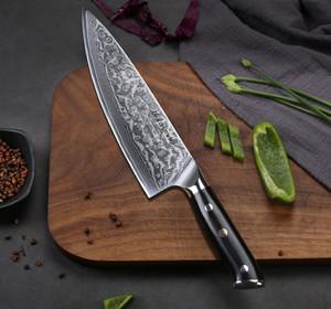 Cuchillo de cocina Chef Profesional cuchillo Gyuto japonesa Damasco acero inoxidable YKC caliente de 8 pulgadas muy agudo de cocinar cuchillos G-10 Mango
