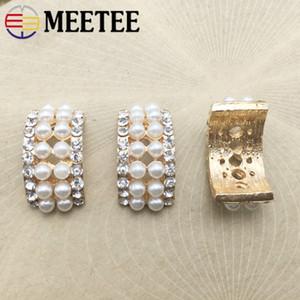 Meetee U Форма Rhinestone Diamante Pearl пряжка Пригласительный билет ленты для волос Slider Свадебные украшения Аксессуары Craft AP340
