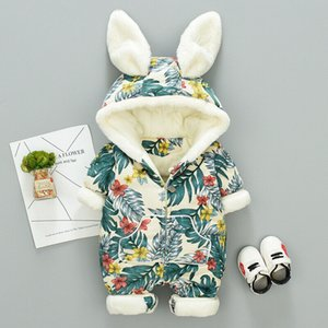 Winter Printing Cartoon Baby Boy Girl Rompers Overalls Jumpsuit Newborn Snowsuit