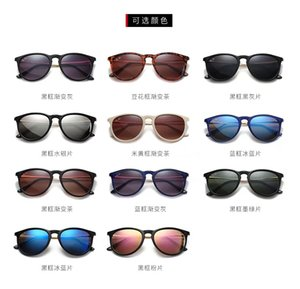 Classic Design Brand Round Sunglasses UV400 Eyewear Metal Gold Frame Bans Glasses Men Women Mirror glass Lens Sunglasses