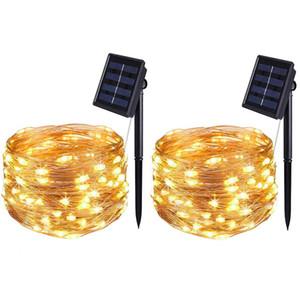 Solar Light String 50/100/200 LED-Solarlicht wasserdichte Fee Garland Lichter String Außen Feiertags-Weihnachtsfest-Hochzeit Solarlampe