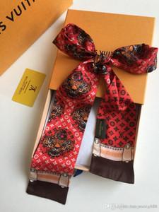 Imitación de seda del pañuelo versátil profesional femenino de la bufanda del color dos Lazos de la moda Jugar Modelo de la Chalina Accesorios envío libre