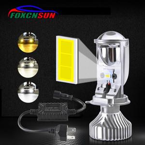 Canbus H4 led Bulb Projector Lens mini Super Bright 2200K 4000K 6500K 12000LM Pair Hi Lo Beam Fanless Auto LED Bulb h4 12v 24v