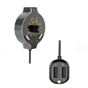 Bluetooth Car MP3 Player transmisor inalámbrico de FM llamadas con manos libres Pantalla Voltaje de la batería Soporte dual AUX Cable USB Manos libres