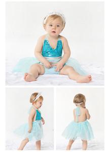 Neue kleine Mädchen des Sommers schnüren sich Riemenart und weisekleid 1-3Y Hochzeitskleidbauchschutzbauch-Kinderkleidungsbabyausstattung-Mädchenkleidung 3c