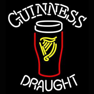 Проект электроники Продукты Пользовательские Guinness стекло неоновой Real стекла Неоновый знак света Beer Bar Sign Send Нужна фотография 19x15