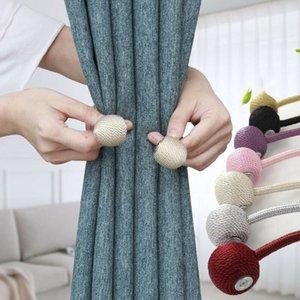 Dettagli in merito a New Sfera Magnetica Cornicioni Fibbia Tieback clip casa Finestra Accessori