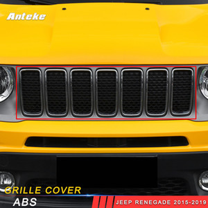 For Jeep Renegade 2015 2016 2017 2018 2019 Car Front Grille Grills Cover Trim Frame Decorations Sticker Exterior Accessories