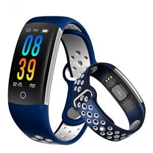 Q6 적당 추적자 똑똑한 팔찌 HR 혈액 산소는 안드로이드 아이폰을 위한 똑똑한 시계 혈압 방수 IP68 똑똑한 손목 시계를 감시합니다