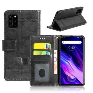 [Vintage шаблон воск масло] PU кожаный флип чехол для телефона UMIDIGI A7 Pro A3X A3S F2 силы, с гнездом для платы