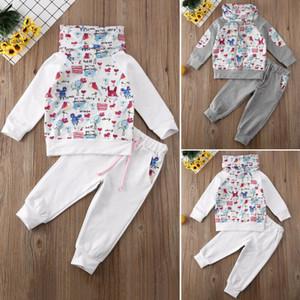 2adet Bebek Çocuk Kız Bebek Kış Giyim Kazak Kazak Pantolon Tayt Kıyafetler Kız Giyim