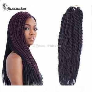 Clearance !! Box Crochet Tresses de pack d'Afrique Tresses Extensions de cheveux tresses africaines Bundles vagues Vente chaude Livraison gratuite