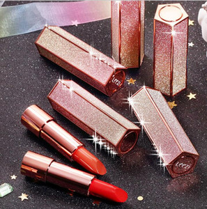 Newest Starry Sky Lipstick With Shiny Case Matte Lipstick Lustre Lipgloss Waterproof Long Lasting Lip Cosmetic For Girls Beauty Makeup