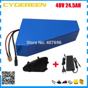 çanta ile 1000W 48V 24.5AH Lityum batarya 2000W 48V 24AH ebike pil 48 V Üçgen kullanımı samsung 3500mah hücre 30A / 50A BMS
