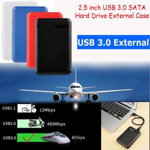 NOVO 2,5 polegadas SATA disco rígido USB 3.0 HDD Unidade externa Caso Box HDD Caso Com cabo de dados 3D27